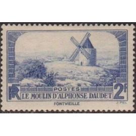 France num Yvert 311 ** MNH Moulin Alphonse Daudet Année 1936