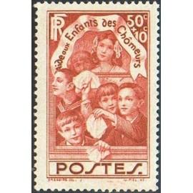 France num Yvert 312 ** MNH Enfant des chomeurs Année 1936