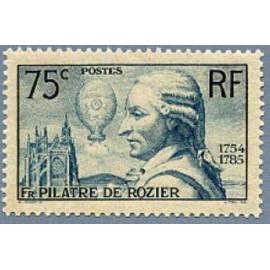 France num Yvert 313 ** MNH Aéronaute François Pilatre de Rozier Année 1936
