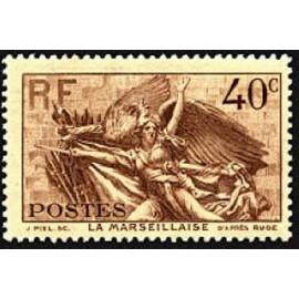 France num Yvert 315 ** MNH Claude Rouget de Lisle Marseillaise Année 1936