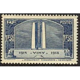 France num Yvert 317 ** MNH Vimy Canada Année 1936
