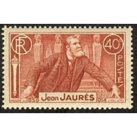 France num Yvert 318 ** MNH Jean Jaures Année 1936