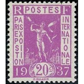 France num Yvert 322 ** MNH Exposition internationnal de Paris Année 1936