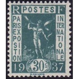 France num Yvert 323 ** MNH Exposition internationnal de Paris Année 1936