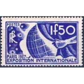 France num Yvert 327 ** MNH Exposition internationnal de Paris Année 1936