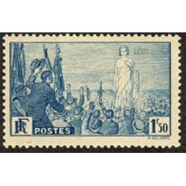 France num Yvert 328 ** MNH Rassemblement pour la Paix Année 1936