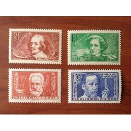 France num Yvert 330-333 ** MNH Série Chomeurs intellectuels Année 1936
