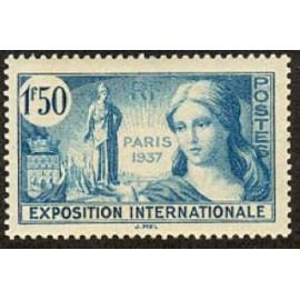 France num Yvert 336 ** MNH Femme Paris Année 1937