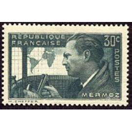France num Yvert 337 ** MNH Jean Mermoz Année 1937
