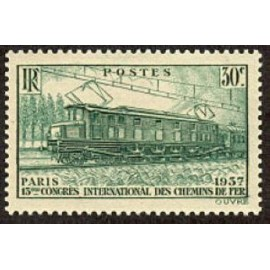 France num Yvert 339 ** MNH Locomotive  Année 1937