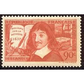 France num Yvert 341 ** MNH Descartes sur Année 1937