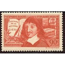 France num Yvert 342 ** MNH Descartes de Année 1937