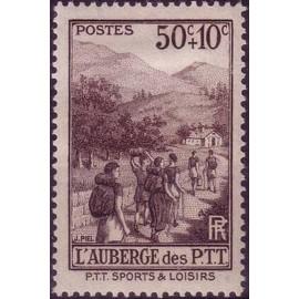 France num Yvert 347 ** MNH PTT randonnée Année 1937