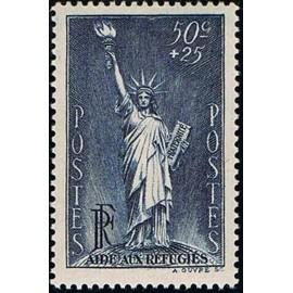 France num Yvert 352 ** MNH Liberté Bartholdi Année 1937