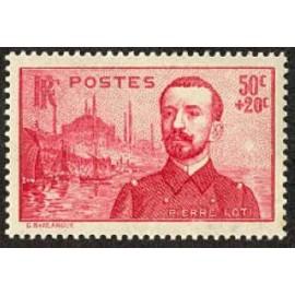 France num Yvert 353 ** MNH Pierre Loti Année 1937
