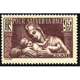 France num Yvert 356 ** MNH Enfant Année 1937