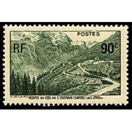 France num Yvert 358 ** MNH Col de l' iseran Année 1937