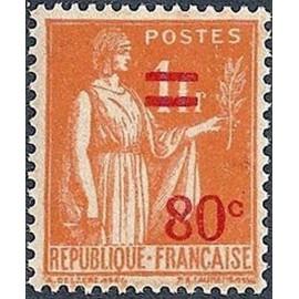 France num Yvert 359 ** MNH Paix Surchargé Année 1937
