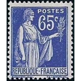 France num Yvert 365 ** MNH Paix Année 1937