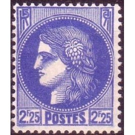 France num Yvert 374 ** MNH Type ceres Année 1938