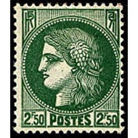 France num Yvert 375 ** MNH Type ceres Année 1938