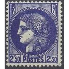 France num Yvert 375A ** MNH Type ceres Année 1938