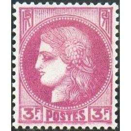 France num Yvert 376 ** MNH Type ceres Année 1938