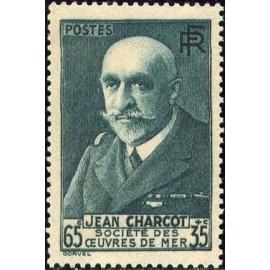 France num Yvert 377 ** MNH Charcot Année 1938