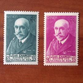 France num Yvert 377-377A ** MNH Charcot Année 1938