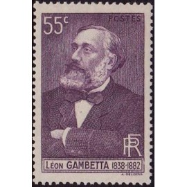 France num Yvert 378 ** MNH Leon Gambetta Année 1938