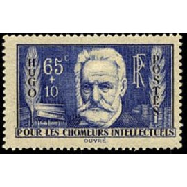 France num Yvert 383 ** MNH Victor Hugo Année 1938