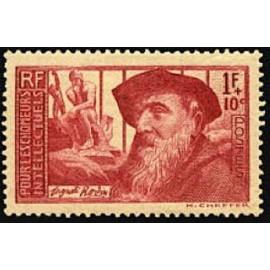 France num Yvert 384 ** MNH  Rodin le Penseur Année 1938