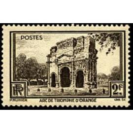 France num Yvert 389 ** MNH Arc d Orange Année 1938