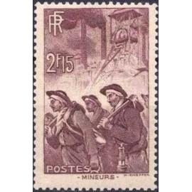 France num Yvert 390 ** MNH Mineur Année 1938