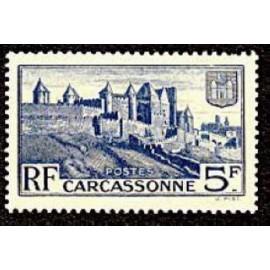 France num Yvert 392 ** MNH Carcassonne rempart Année 1938