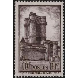 France num Yvert 393 ** MNH Vincennes  château Année 1938