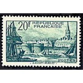France num Yvert 394 ** MNH Port de st malo Année 1938