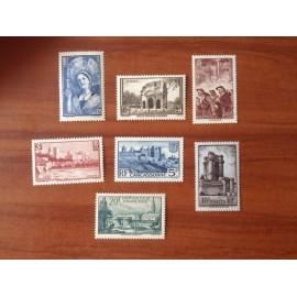 France num Yvert 388-394 ** MNH Sites et paysages Année 1938