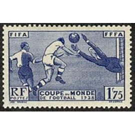 France num Yvert 396 ** MNH Football  Coupe  Année 1938