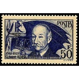 France num Yvert 398 ** MNH Clement Ader Année 1938