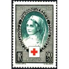 France num Yvert 422 ** MNH Croix rouge  Année 1939