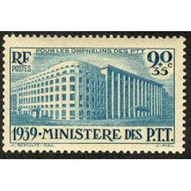 France num Yvert 424 ** MNH PTT Paris Année 1939