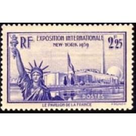France num Yvert 426 ** MNH  Liberté Bartholdi Année 1939