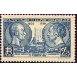 France num Yvert 427 ** MNH photographie  daguerre Année 1939