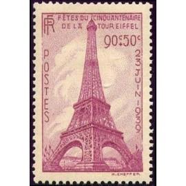 France num Yvert 429 ** MNH Tour eiffel Année 1939