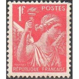 France num Yvert 433 ** MNH Iris Année 1939