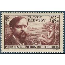 France num Yvert 437 ** MNH Debussy Année 1939