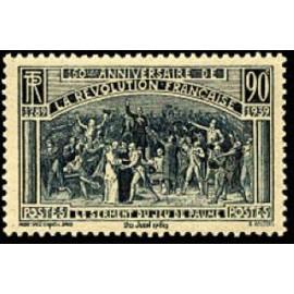 France num Yvert 444 ** MNH revolution française Année 1939