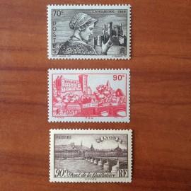 France num Yvert 448-450 ** MNH Sites et Paysages Année 1939