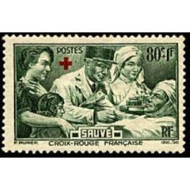 France num Yvert 459 ** MNH Croix rouge Année 1940